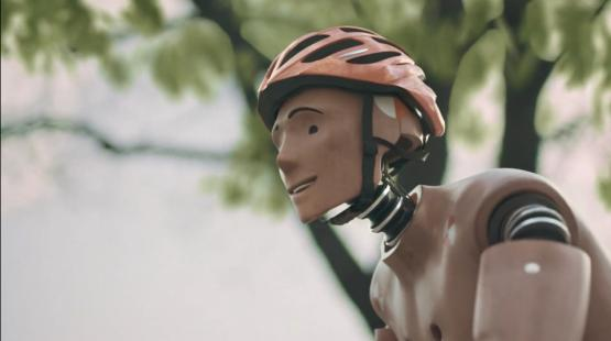 A 3d animated crash test dummy created with Perception Neuron motion capture stars in AVC commercial.
