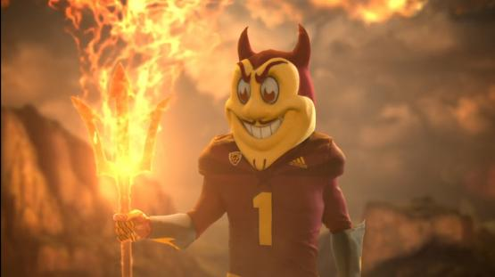ASU mascot Sparky created with Perception Neuron motion capture.